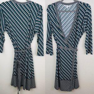 Max Studio Printed Wrap Dress
